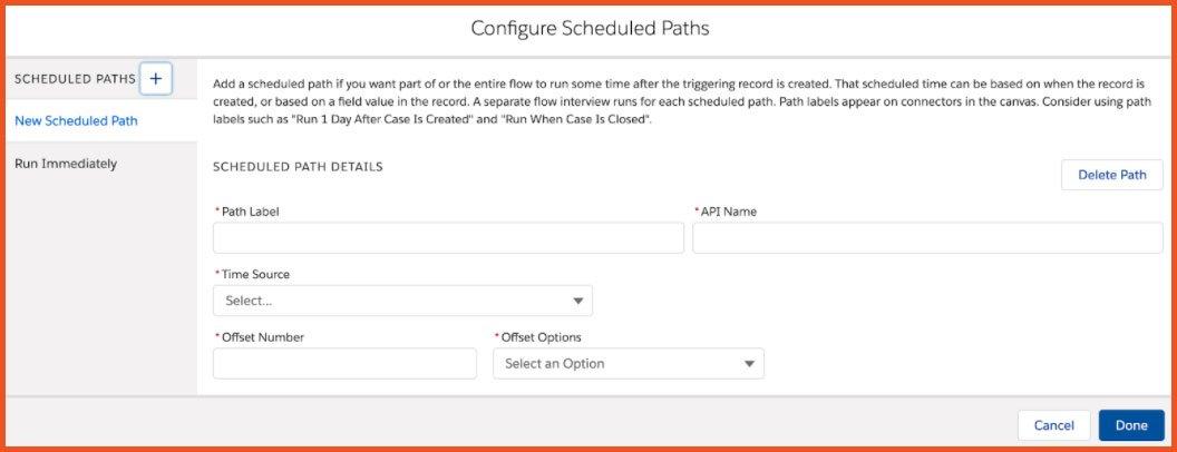 Configure Scheduled Paths