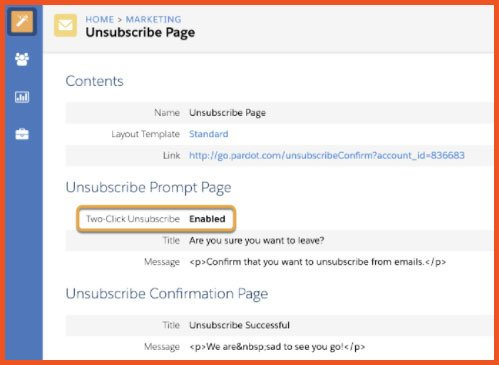 Unsubscribe | Salesforce Spring 21 Release