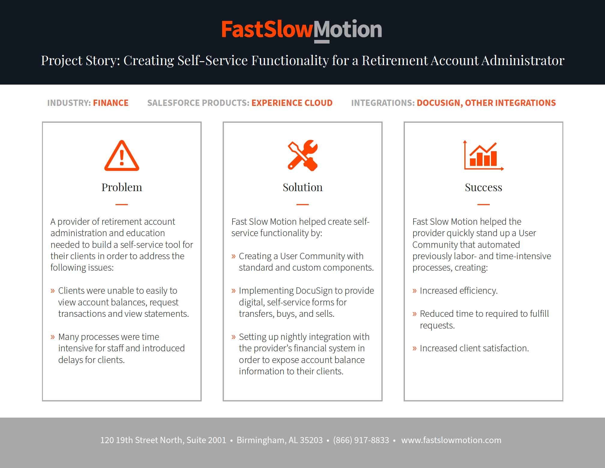 Project Story: Creating Self-Service Functionality for a Retirement Account Administrator