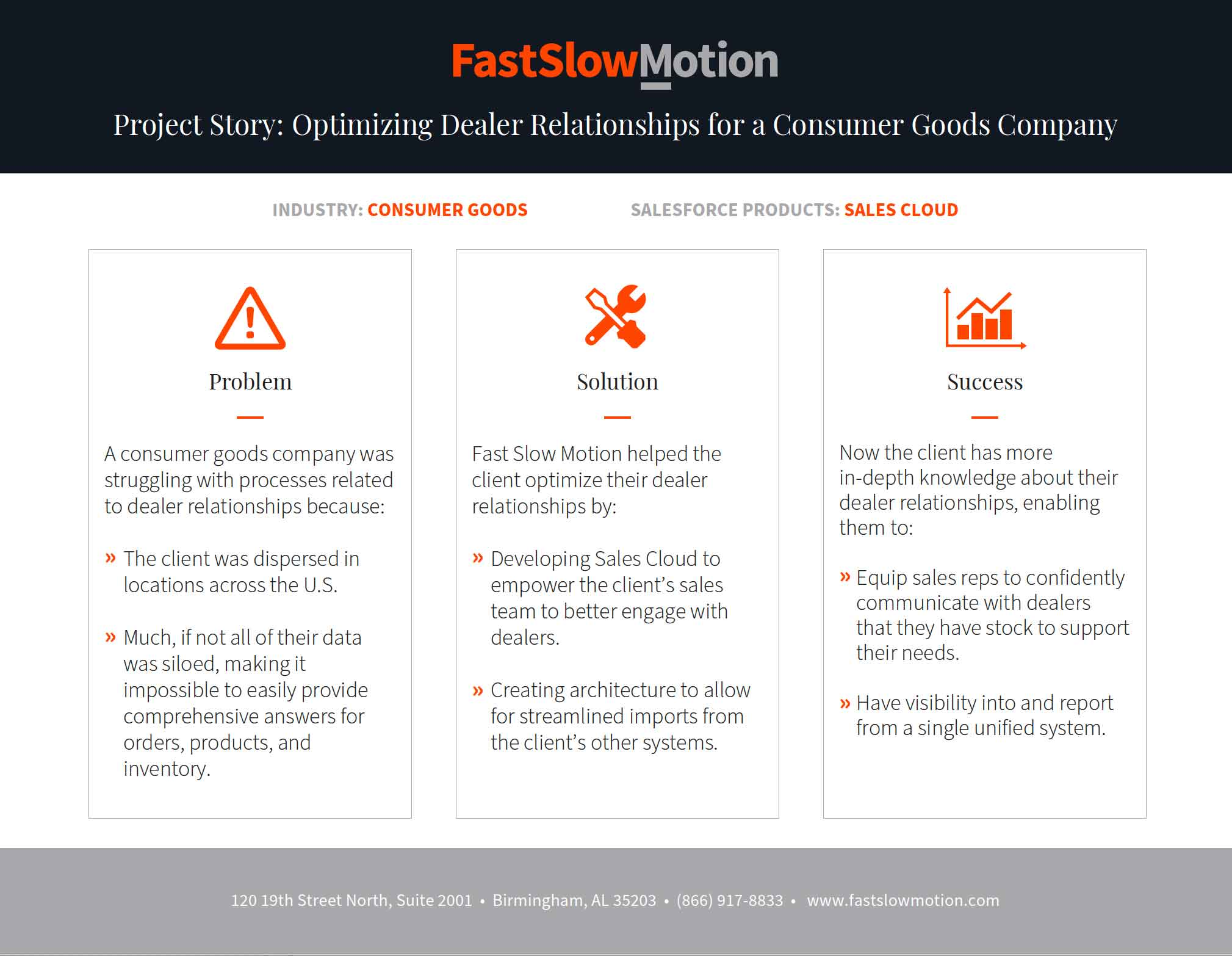 Project Story: Optimizing Dealer Relationships for a Consumer Goods Company